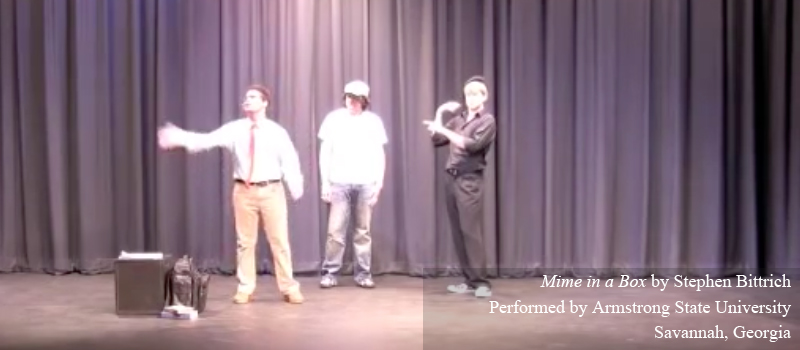 10 minute play Mime in a Box by Stephen Bittrich
